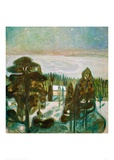 White Night, 1901 Giclee Print by Edvard Munch