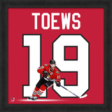 Jonathan Toews, Blackhawks Framed photographic representation of the player's jersey Framed Memorabilia