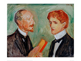Albert Kollman and the Danish Author, 1901 Giclee Print by Edvard Munch