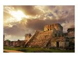 Mayan Castillo Tulum Mexico Affiches