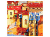 Mediterranean City At Sunset Posters