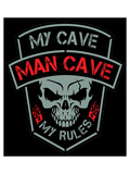 Man Cave-Biker Patch Prints by  SM Design