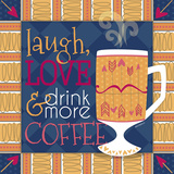 Playful Coffee I Prints by  lezleelliot