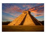 Mayan Kukulkan Temple Yucatan Posters
