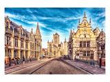 Medieval Street Gent Belgium Art