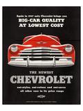 GM Chevy Big Car Quality Affiches