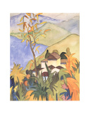 Village Above the Lake Collectable Print by Herman Hesse