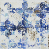 Blue Quatrefoil III Art by Patricia Pinto