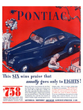 GM Pontiac - Six Wins Praise Print