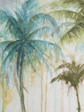 Watercolor Palms in Blue I Plakater af Patricia Pinto