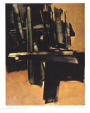 Peinture 16 Juillet (1961) Collectable Print by Pierre Soulages