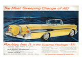 GM Pontiac '57 Sweeping Change Posters