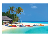 Maldives Island Beach & Boats Posters