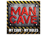 My Cave-My Rules Sq Posters by  SM Design