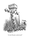 """Go back! The place is full of mold!"" - New Yorker Cartoon Premium Giclee Print by Frank Cotham"
