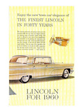 Lincoln 1960 Town Car Elegance Prints