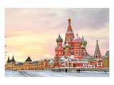 Moscow Red Square & Kremlin Plakat