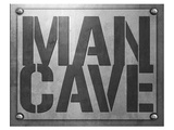 Man Cave Entry Plaque Poster by  SM Design