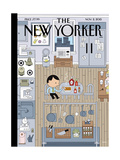 The New Yorker Cover - November 2, 2015 Regular Giclee Print by Ivan Brunetti