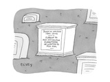"(A tombstone for John W. Wilson reads ""Forgot to ask his doctor everything…"" - New Yorker Cartoon Premium Giclee Print by Peter C. Vey"