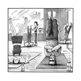 Frankenstein's monster easily balances on his flat head in yoga class.  - New Yorker Cartoon Premium Giclee Print by Harry Bliss