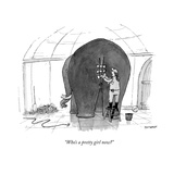 """Who's a pretty girl now"" - New Yorker Cartoon Premium Giclee Print by Jason Patterson"