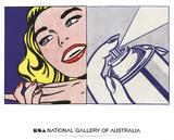 Roy Lichtenstein - Girl and Spray Can - Reprodüksiyon