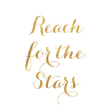 Reach for the Stars (gold foil) Reprodukcje