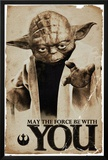 Star Wars Yoda May The Force Posters