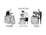 "You've Got Mail -- A triptych of strange packages, e.g., ""smuggled violas"" - New Yorker Cartoon Premium Giclee Print by Tom Chitty"