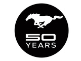Mustang 50 Years Black Logo Print