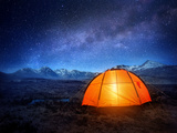 Camping under the Stars Photographic Print by  Solarseven