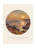Old Masters, New Circles: The Setting of the Sun at Douarnenez Giclee Print by Pierre-Auguste Renoir