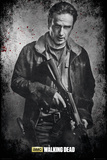 The Walking Dead- Rick Black And White Poster