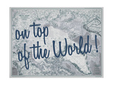 On Top of the World - 1983 Arctic Ocean Map Giclee Print