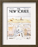 The New Yorker Cover, View of the World from 9th Avenue - March 29, 1976 Prints by Saul Steinberg