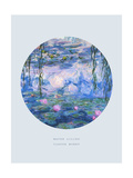 Old Masters, New Circles: Water Lilies (Nympheas), c.1916 Giclee Print by Claude Monet