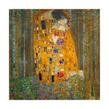 Collage Design with Painting Elements - The Kiss & Tannenwald (Pine Forest) Giclee Print by Elements of Gustav Klimt