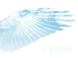 Wings in the Sky with Hope Plastic Sign