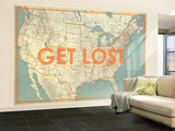 Get Lost - 1933 United States of America Map Vægplakat, stor af National Geographic Maps