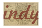 Indy - 1876, Indianapolis - Plan, Indiana, United States Map Giclee Print