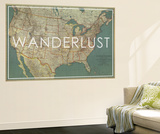 Wanderlust - 1933 United States of America Map Wall Mural by  National Geographic Maps