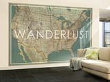 Wanderlust - 1933 United States of America Map Vægplakat, stor af National Geographic Maps