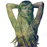 The Forest Woman with the Green Eyes Photographic Print
