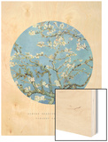 Old Masters, New Circles: Almond Branches in Bloom, San Remy, c.1890 Wood Print by Vincent van Gogh