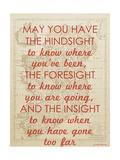 An Irish Blessing on Hindsight, Foresight & Insight - 1741, Ireland Map Giclee Print