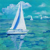 Regatta Winds I Print by Robin Maria