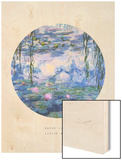 Old Masters, New Circles: Water Lilies (Nympheas), c.1916 Wood Print by Claude Monet