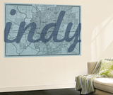 Indy - 1876, Indianapolis - Plan, Indiana, United States Map Wall Mural