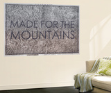 Made for the Mountains - 1894, Colorado State Map in Relief, Colorado, United States Map Wall Mural